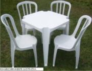 Aluguel Mesas e Cadeiras Plástica em Itaquera - SP