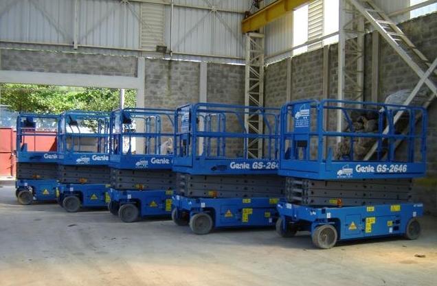 Aluguel de Plataforma Elevatória  Tesoura Elétrica - MODELO GS 2646