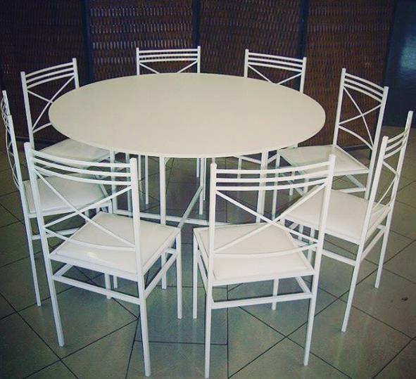 <Aluguel de Mesa Redonda com Cadeiras de Ferro na Freguesia do Ó, Santana, Bairro do Limão*