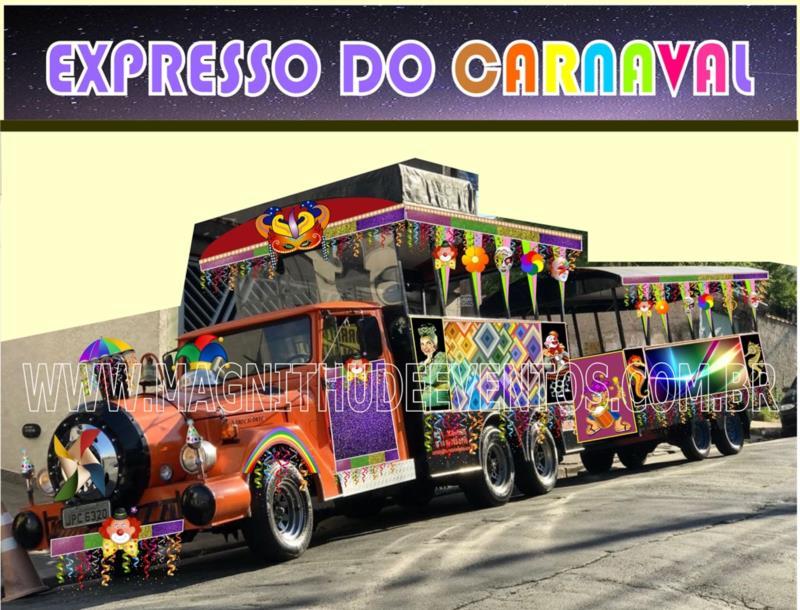 Trenzinho da Alegria para Carnaval
