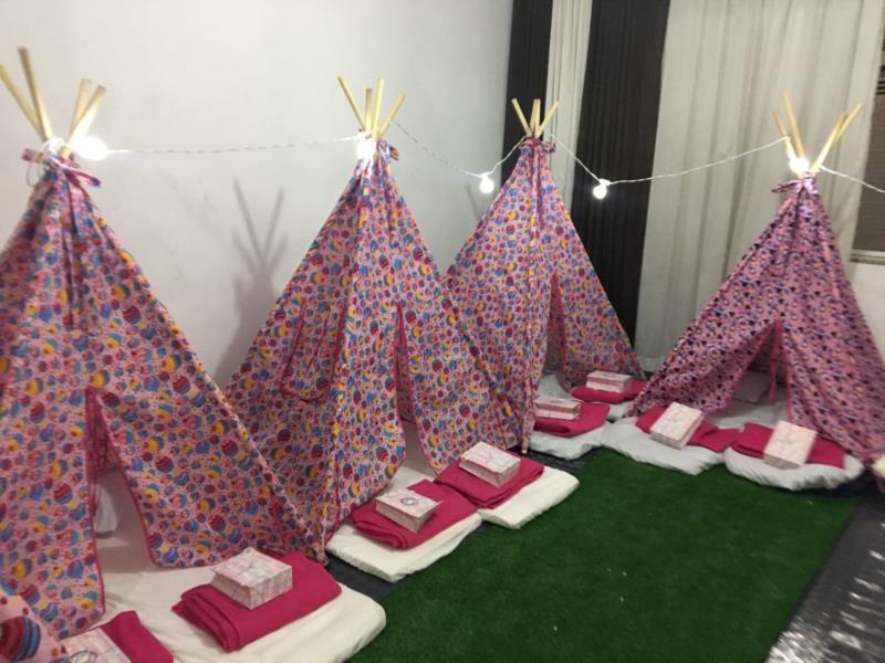 Cabana para Festa do Pijama na Moóca, Brás, Sé, Vila Maria, Lapa, Perdizes