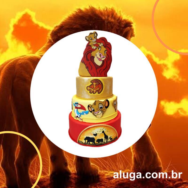 <Aluguel de Bolo Fake Rei Leão em Vila Carrão, Tatuapé, Moóca, Anália Franco - SP*
