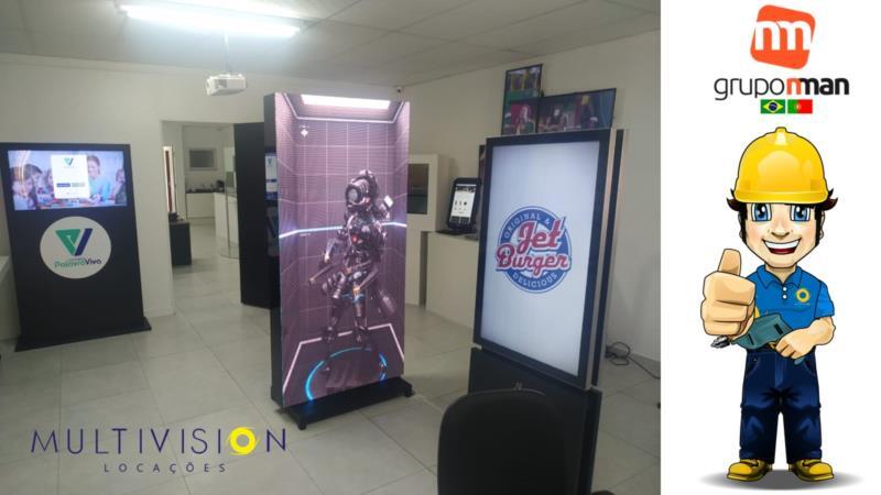 """<Locação de Toten touchscreen 42"""" em todo Brasil."""