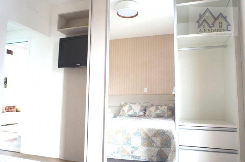 <Apartamento novo 1 dormitório decorado a venda, Santos, SP