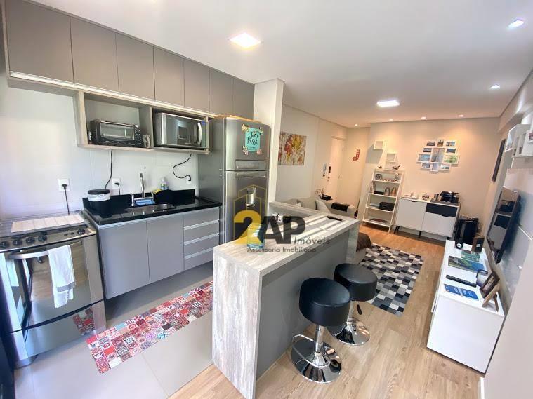 <Apartamento com 1 dormitório suíte para alugar, 46 m² por R$ 2.116/mês - Panamby - São Paulo/SP